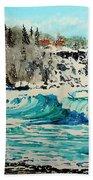Rough Water At Split Rock Bath Towel