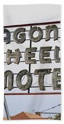 Route 66 - Wagon Wheel Motel Bath Towel