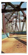 Route 66 - Chain Of Rocks Bridge Bath Towel