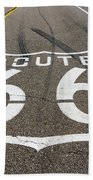 Route 66 Highway Sign Bath Towel