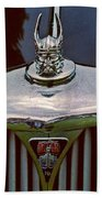 Rover Radiator And Hood Ornament Bath Towel