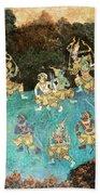 Royal Palace Ramayana 16 Bath Towel