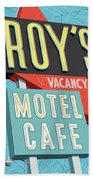 Roy's Motel Cafe Pop Art Hand Towel by Jim Zahniser