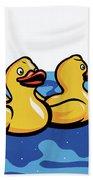 Rubber Ducks Bath Towel