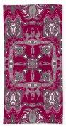 Rubies And Silver Kaleidoscope Bath Towel