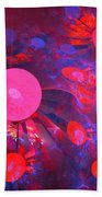 Ruby Blue Rays Bath Towel