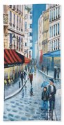 Rue De La Huchette, Paris 5e Hand Towel