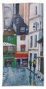 Rue Galande, Paris Bath Towel
