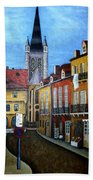 Rue Lamonnoye In Dijon France Bath Towel