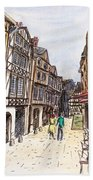 Rue Malpalu, Rouen, France I Bath Towel