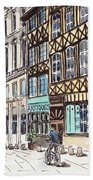Rue Malpalu, Rouen, France II Bath Towel