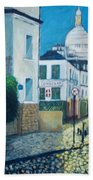 Rue Norvins, Paris Bath Towel