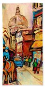 Rue St Jacques Old Montreal Streets  Bath Towel