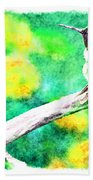 Ruffled Hummingbird - Digital Paint 5 Bath Towel