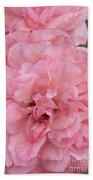 Ruffled Pink Rose Bath Towel