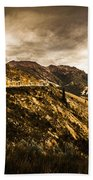 Rugged And Intense Mountain Background Bath Towel