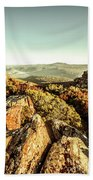 Rugged Mountaintops To Regional Valleys Hand Towel