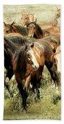 Running Free Horses IIi Bath Towel