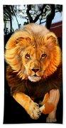 Running Lion Bath Towel