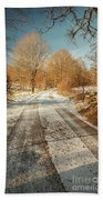 Rural Country Road Bath Towel