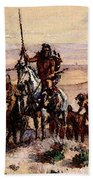 Russell Charles Marion Indians On Plains Bath Towel