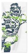 Russell Wilson Seattle Seahawks Pixel Art 12 Bath Towel