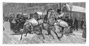 Russia: Troika, 1888 Bath Towel