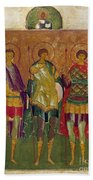 Russian Icon: Saints Bath Towel