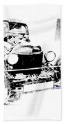 Russian Rat Rod Bath Towel