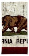 Rustic California State Flag Design Bath Towel