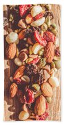 Rustic Dried Fruit And Nut Mix Bath Towel