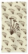 Rustic Hammer Pattern Bath Towel