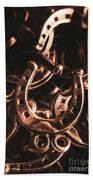 Rustic Horse Shoes Bath Towel