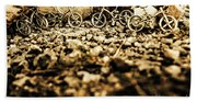 Rustic Mountain Bikes Bath Towel