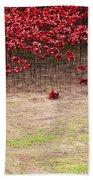 Rustic Poppy Garden Bath Towel