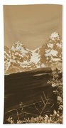 Rustic View Of Grand Teton Hand Towel