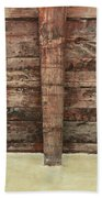 Rustic Wood Beams Bath Towel