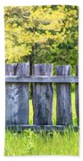 Rustic Wooden Fence At Old World Wisconsin Bath Towel