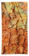 Rusty Bark Abstract Bath Towel