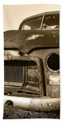 Rusty But Trusty Old Gmc Pickup Truck - Sepia Hand Towel