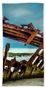 Rusty Forgotten Shipwreck Hand Towel