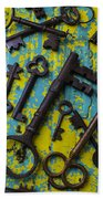 Rusty Keys Bath Towel