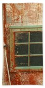 Rusty Lighthouse Window Bath Towel