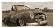 Rusty Studebaker In Sepia Bath Towel