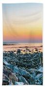 Rye, New Hampshire Sunrise Cairns Bath Towel