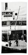 S. P. Ferry Alameda At San Francisco Circa 1940 Bath Towel