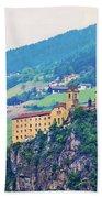 Saben Abbey On High Cliff Near Klausen View Bath Towel
