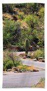 Sabino Canyon Road Bath Towel
