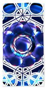 Sacred Geometry Blue Shapes Background Bath Towel