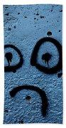 Sad Graffiti Bath Towel